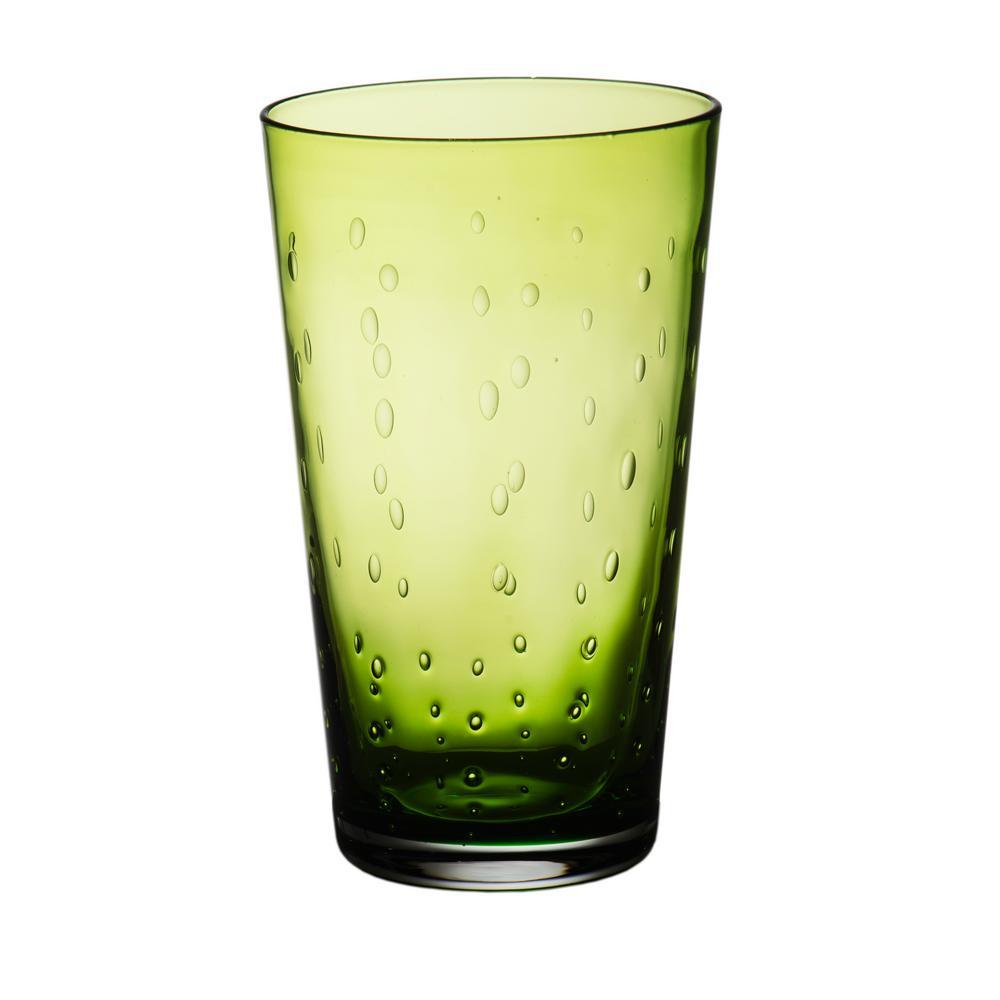 Rain Drop Green Highball (Set of 4)