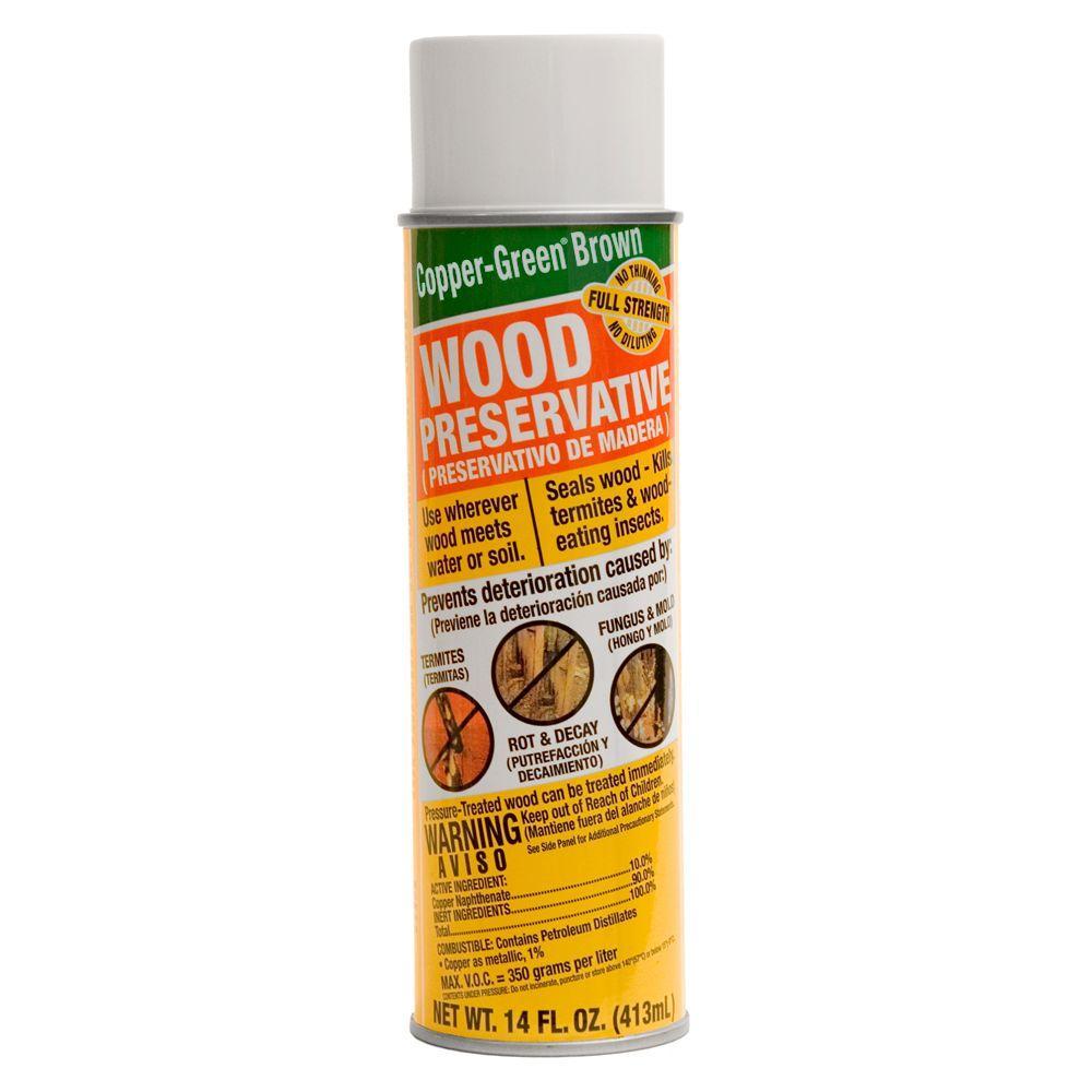 Copper Green Brown Wood Preservative 14 Aerosol Cb Spray The Home Depot