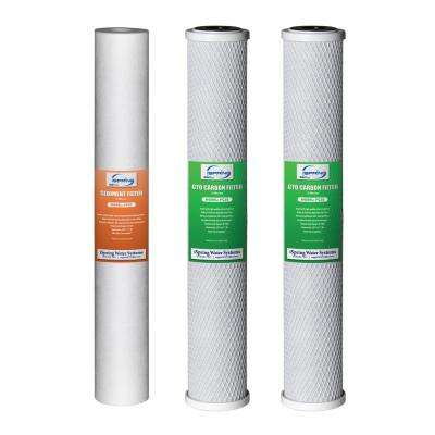20 in. x 2.5 in. Water Filter Replacement Pack for Commercial RO Systems and Whole House Filters