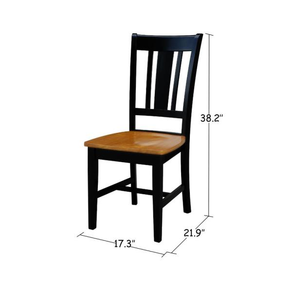 International Concepts San Remo Black and Cherry Wood Dining Chair (Set