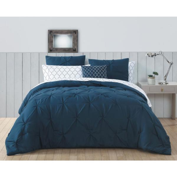 Avondale Manor Bradford 8-Piece Navy Twin Bed in a Bag BDF6BBTWINGHNV