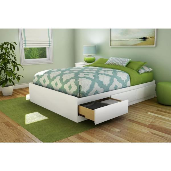 Under Bed Storage Drawer Beds, Queen Size White Bed Frame With Storage