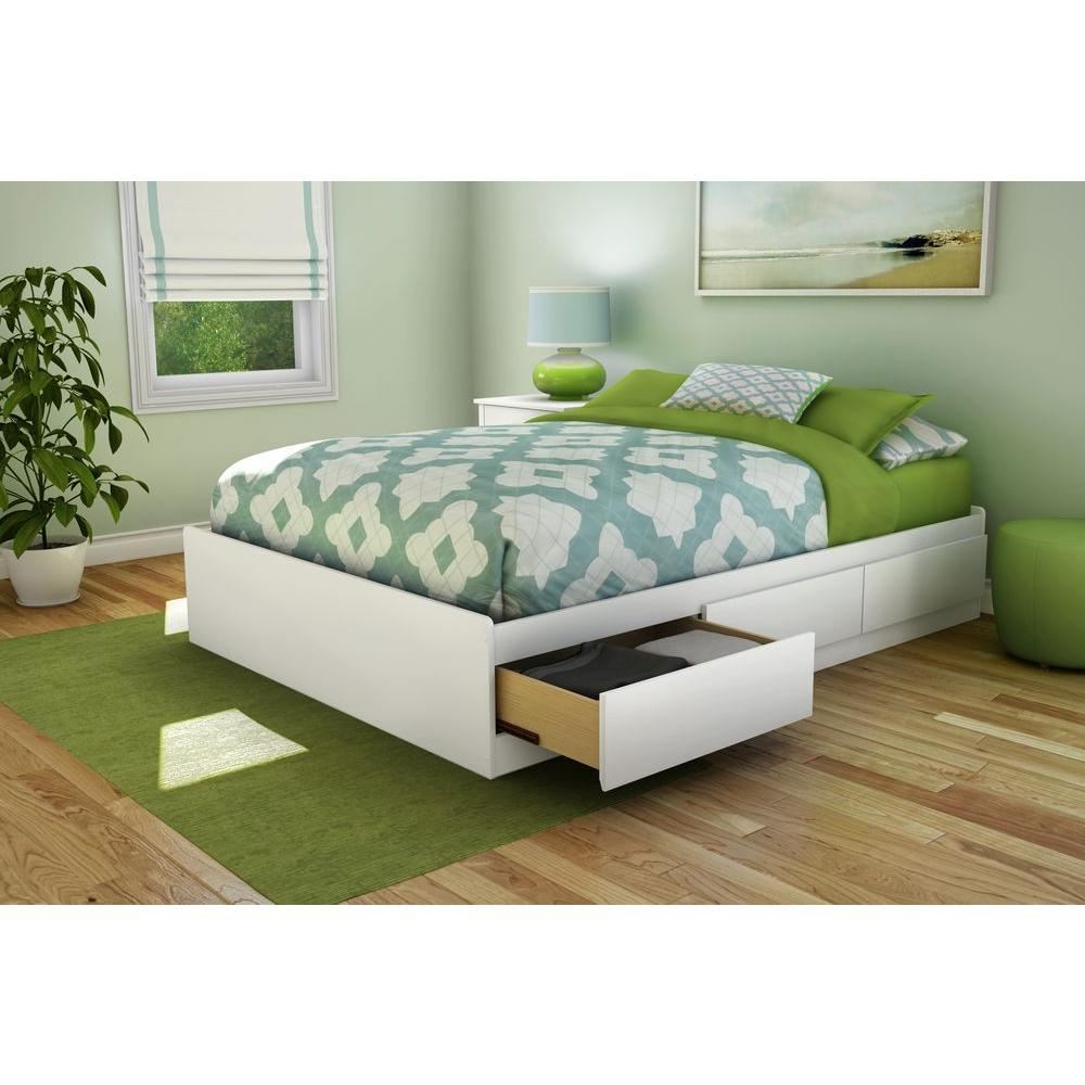 South Shore Step One  Drawer Full Size Storage Bed In Pure White