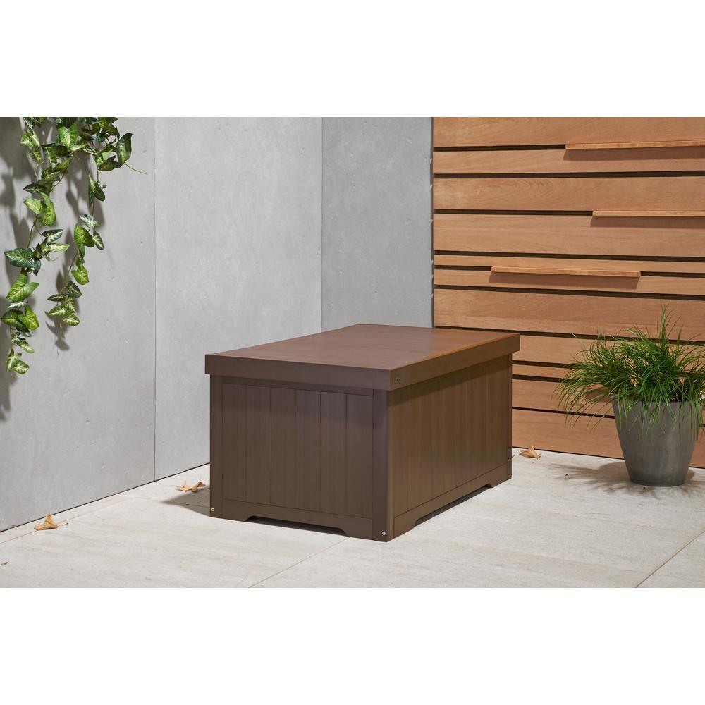 Polystyrene Deck Box Espresso Brown