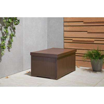 70 Gal. Polystyrene Deck Box Espresso Brown