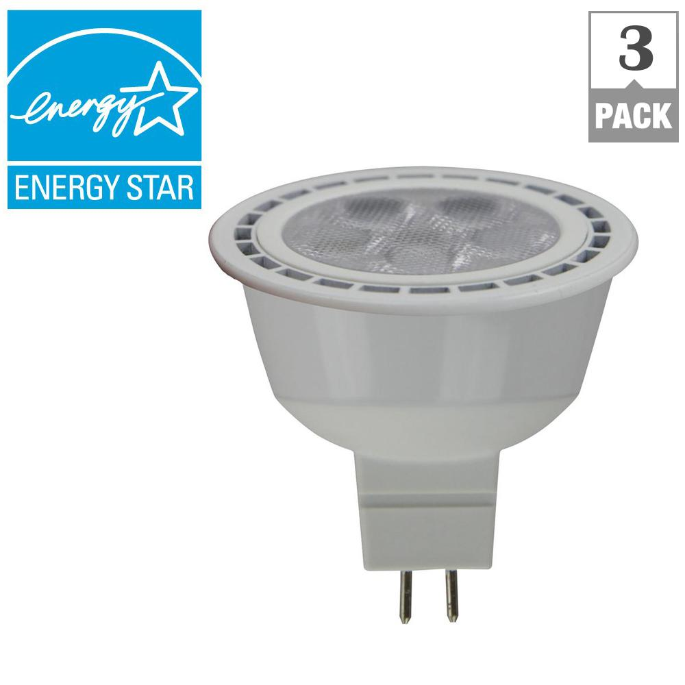 Ecosmart 50w Equivalent Bright White 12 Volt Mr16 Dimmable Cec Led Light Bulb 3 Pack