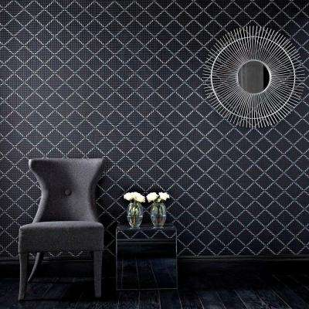 Quantum Black Removable Wallpaper Sample