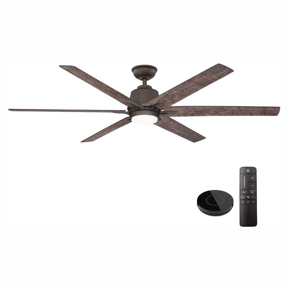 Home Decorators Collection Kensgrove 64 in. LED Espresso Bronze Ceiling Fan works with Google Assistant and Alexa