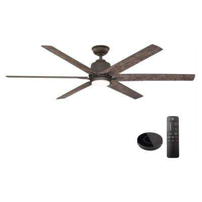 Kensgrove 64 in. LED Espresso Bronze Ceiling Fan works with Google Assistant and Alexa