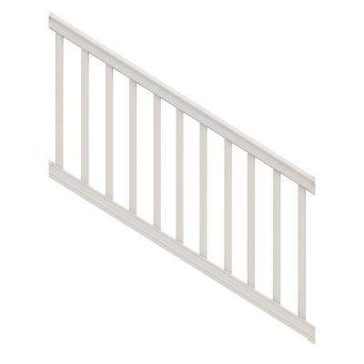 Premier 6 ft. x 36 in. White Vinyl Stair Rail with Square Balusters