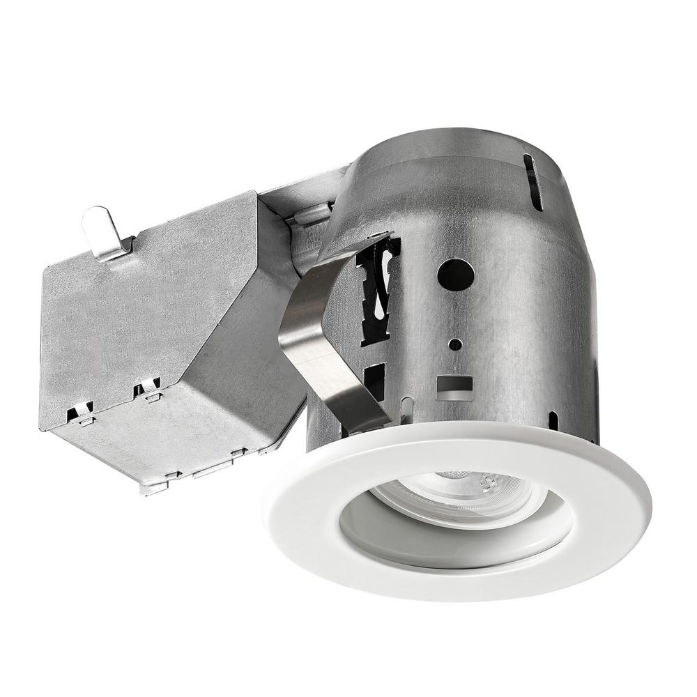 Globe Electric LED Glare Control / Directional 3 in. White Recessed Kit
