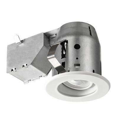 LED Glare Control / Directional 3 in. White Recessed Kit