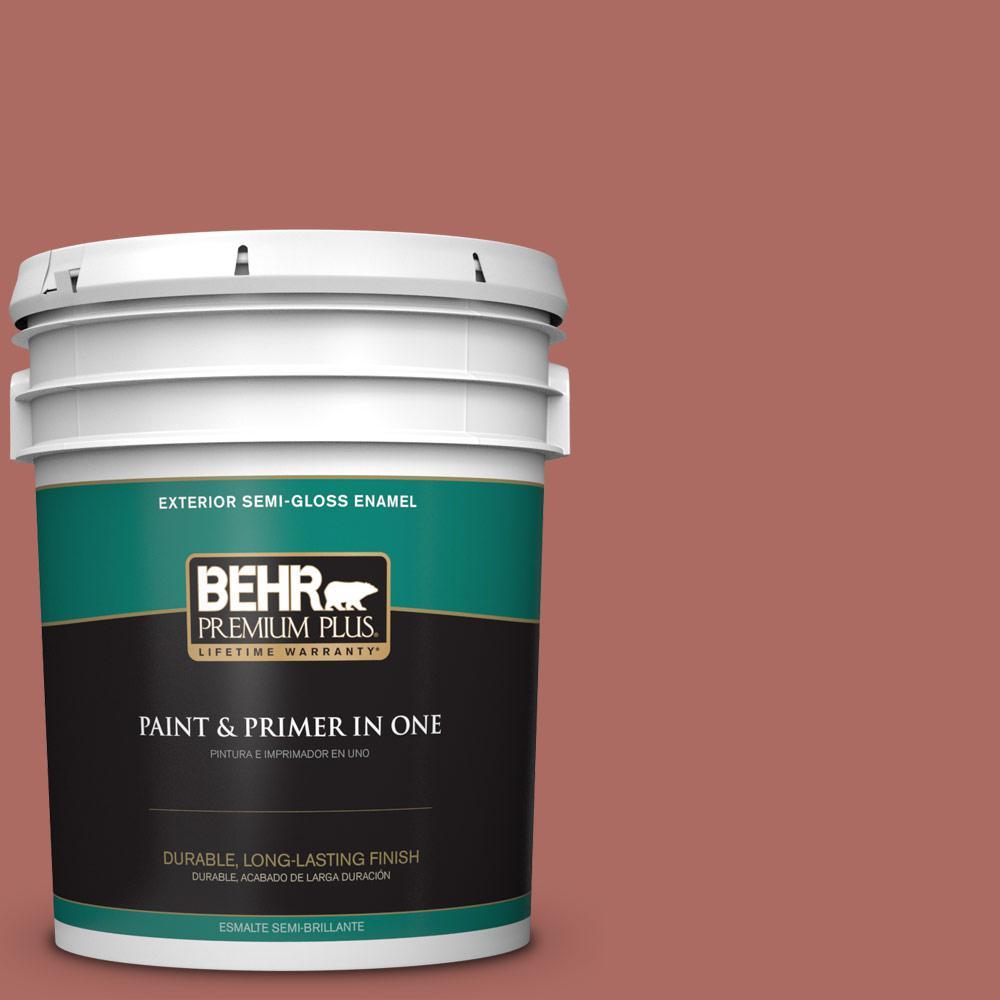 5 gal. #PPU2-13 Colonial Brick Semi-Gloss Enamel Exterior Paint