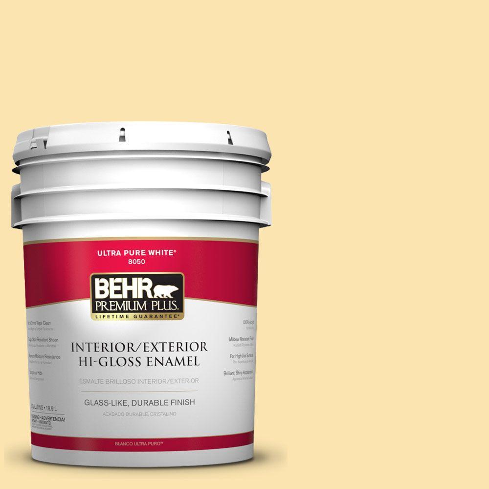 BEHR Premium Plus 5-gal. #360C-2 Wickerware Hi-Gloss Enamel Interior/Exterior Paint