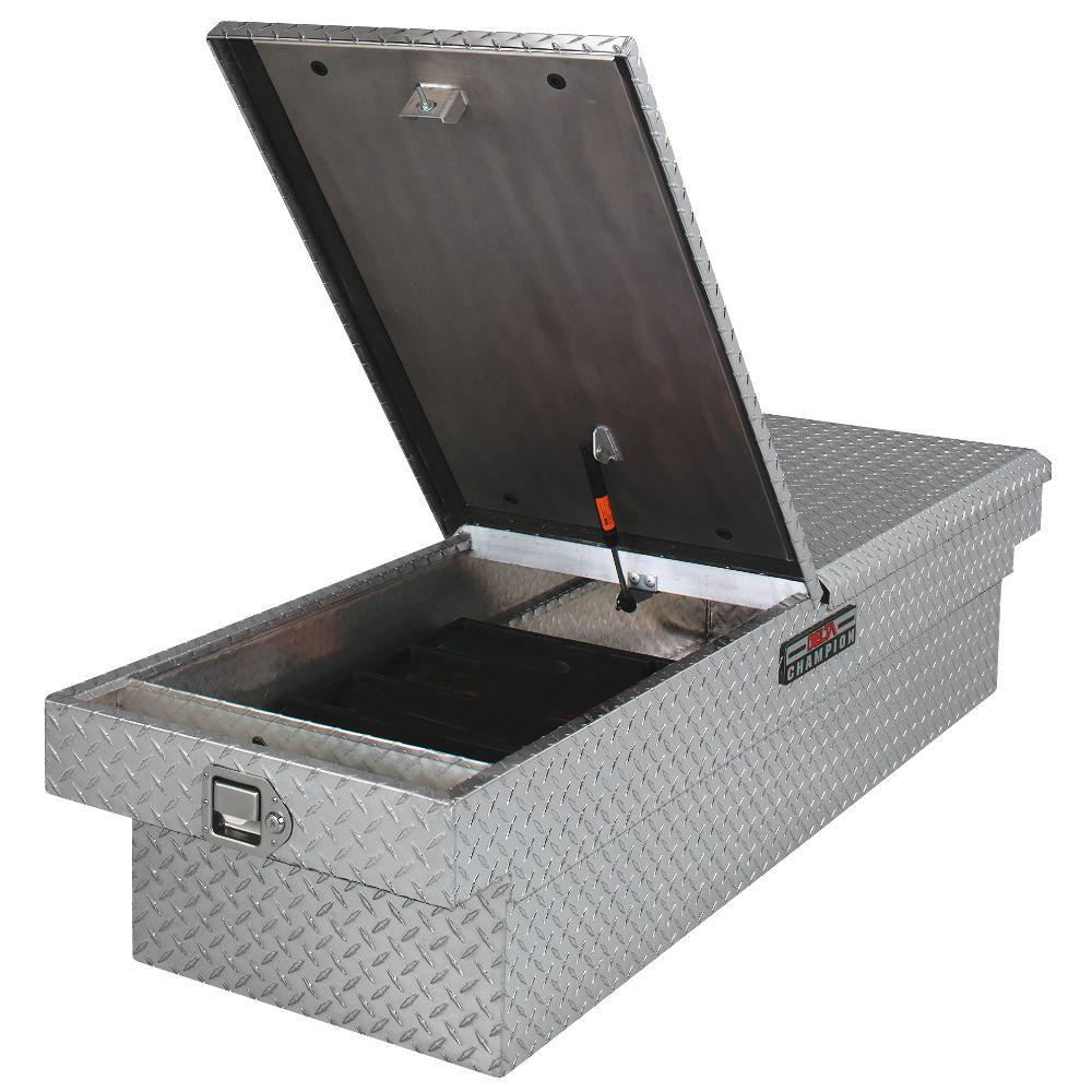 Delta 21 in. Aluminum Mid Lid Full Size Crossover Tool Box with Gear-Lock