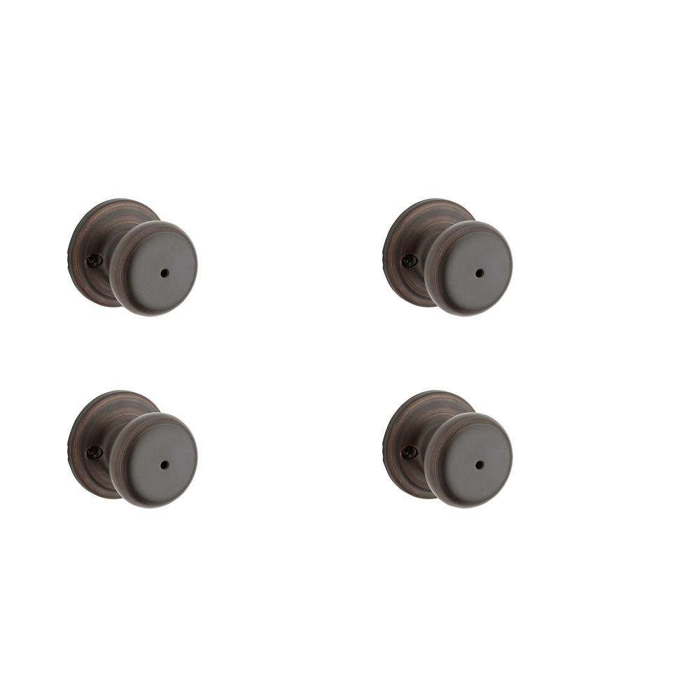 Juno Venetian Bronze Bed/Bath Knob (4- Pack)