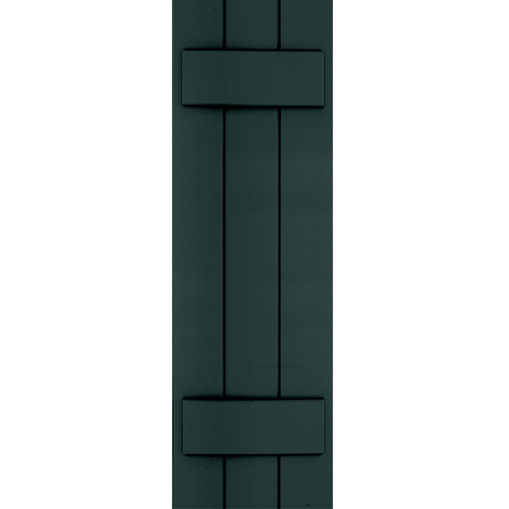 Winworks Wood Composite 12 in. x 38 in. Board & Batten Shutters Pair #638 Evergreen