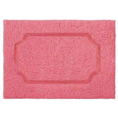 Blossom Coral 20 in. x 32 in. Premium Extra Plush Race Track Bath Rug
