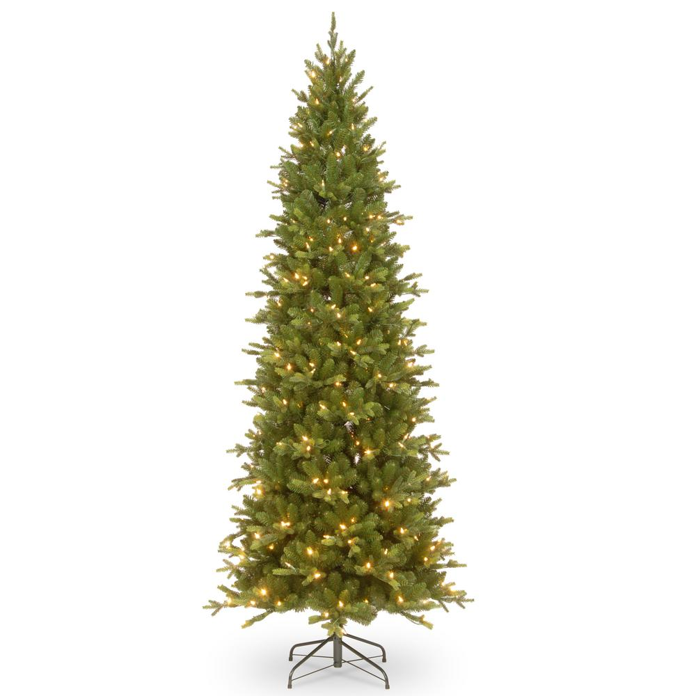 Ashland Christmas Trees.National Tree Company 7 1 2 Ft Feel Real Ashland Spruce Slim Hinged Tree With 600 Clear Lights And Powerconnect