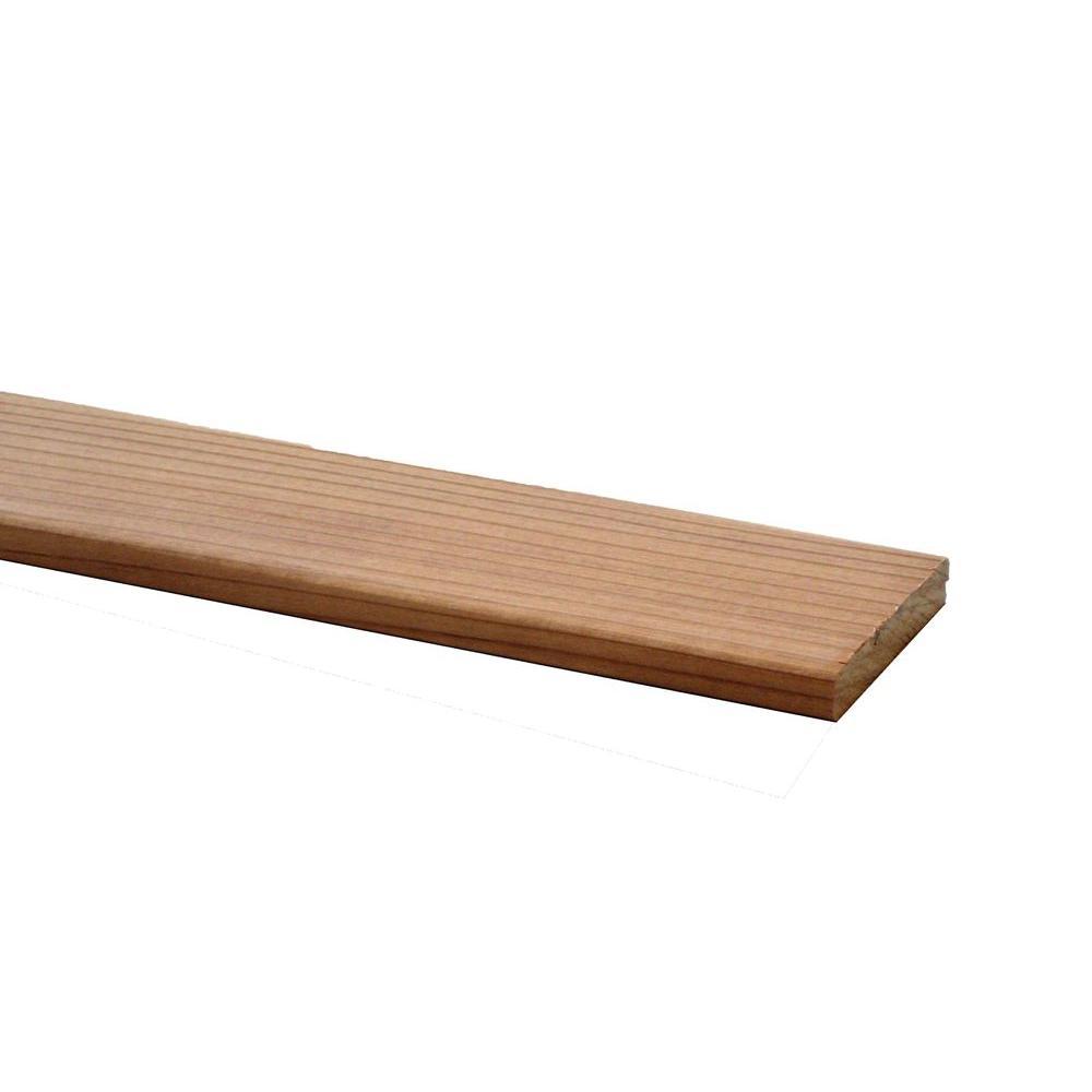 Redwood B Grade Heart Board (Common: 5/8 in. x 3-3/8 in.