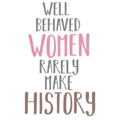 Women Make History Multi-Colored Wall Quote Decal