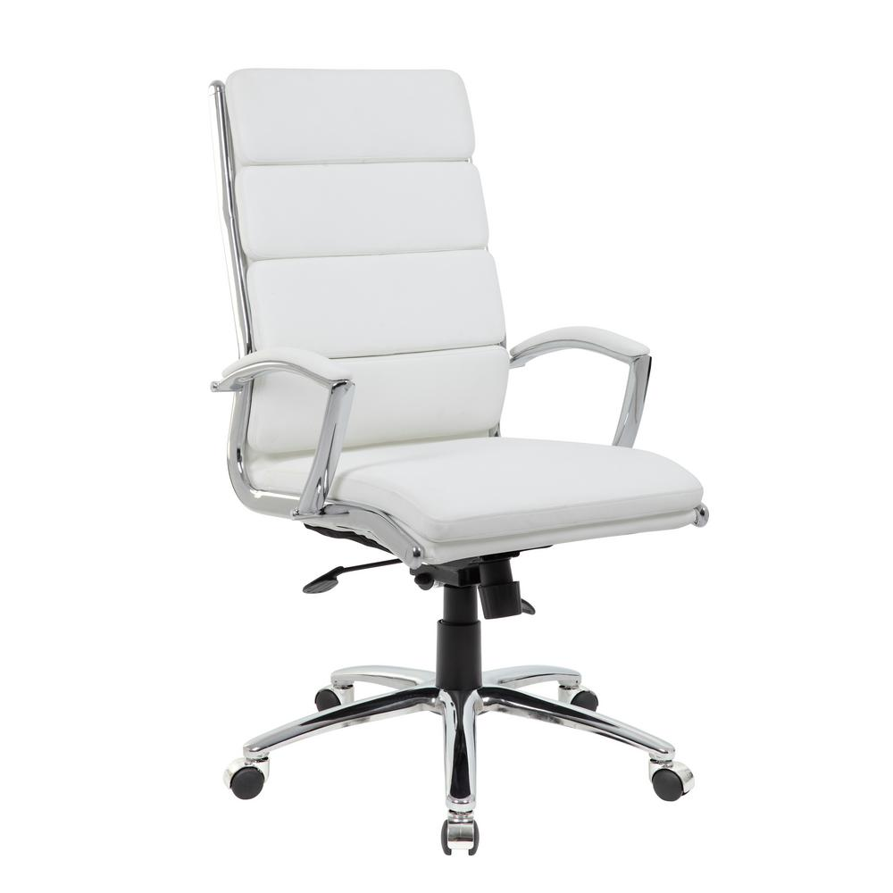 BOSS OFFICE White High Back Executive Office Chair-B38-WT - The