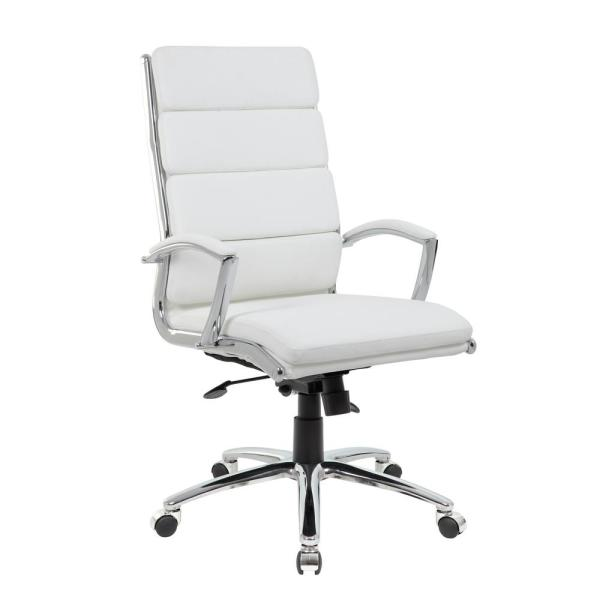 Boss White High Back Executive Office Chair B9471-WT
