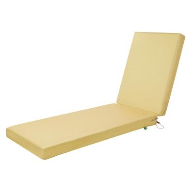 Weekend 72 in. W x 21 in. D x 3 in. Thick Outdoor Chaise Cushion in Straw