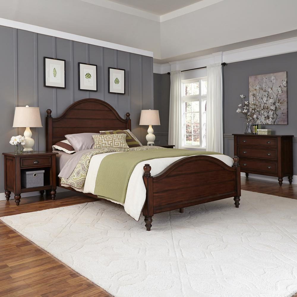 Home styles county comfort aged bourbon twin bed frame for Comfort house