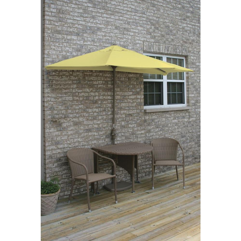 Terrace Mates Adena 5-Piece Coffee Patio Bistro Set with 7.5 ft.