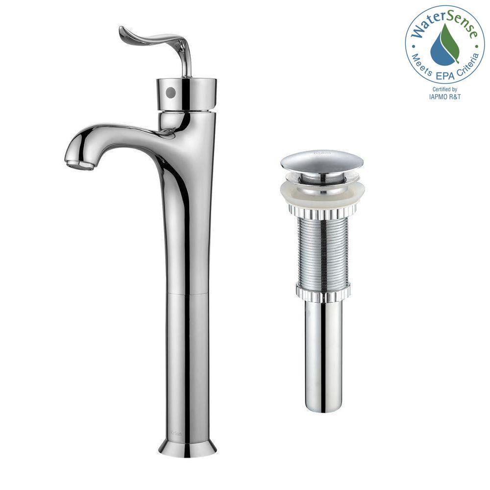 KRAUS Coda Single Hole Single-Handle Bathroom Faucet with Matching ...