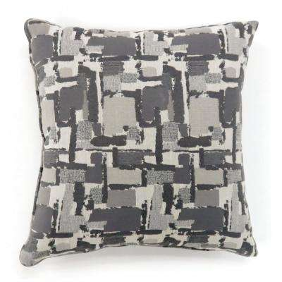 Concrit 18 in. Grey Contemporary Standards Throw Pillow (Set of 2)