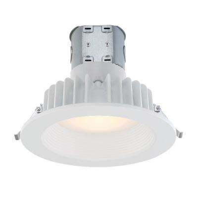 Easy Up with Direct Wire J-Box 6 in. White Integrated LED Recessed Kit
