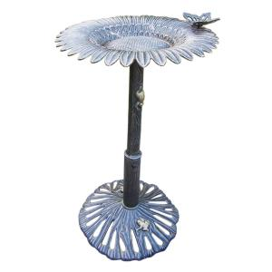 Butterfly Sunflower Birdbath by