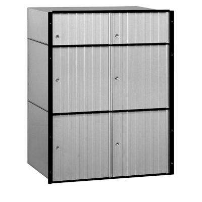 2200 Series Standard System Aluminum Mailbox with 6 Doors
