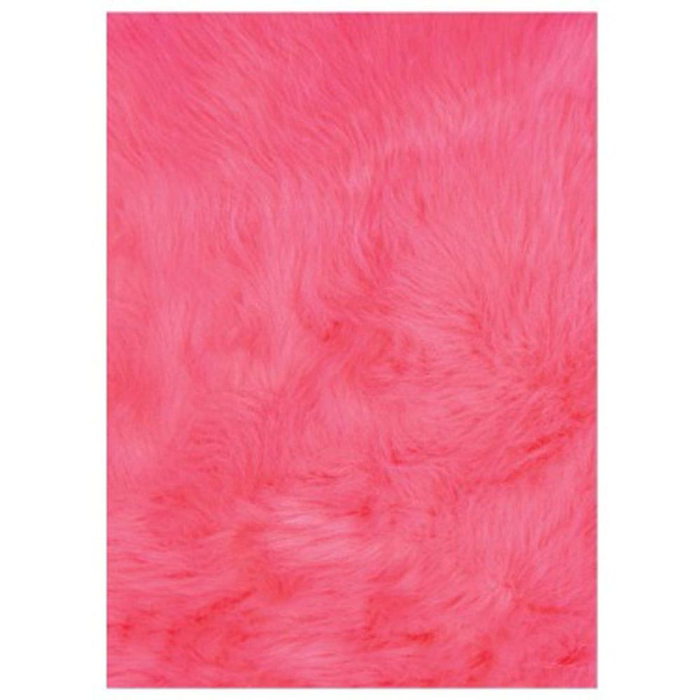 LA Rug Flokati Hot Pink 3 ft. x 5 ft