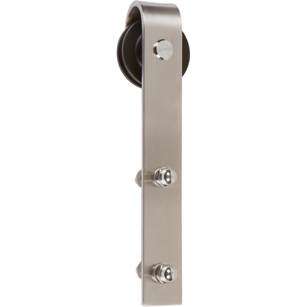 Exceptional Delaney 6 Ft. Brushed Steel Barn Door Hardware Kit
