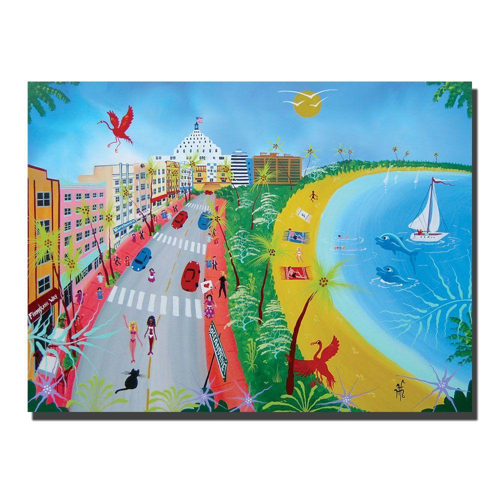 24 in. x 32 in. Ocean Drive Canvas Art