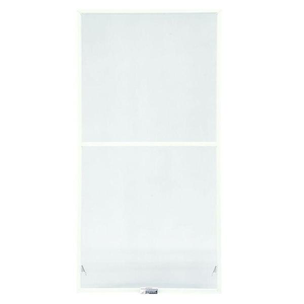 TruScene 31-7/8 in. x 62-27/32 in. White Aluminum Double-Hung Insect Screen
