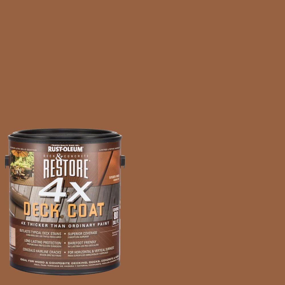 home depot deck paint Rust Oleum Restore 1 gal. 4X Timberline Deck Coat 41158   The Home  home depot deck paint