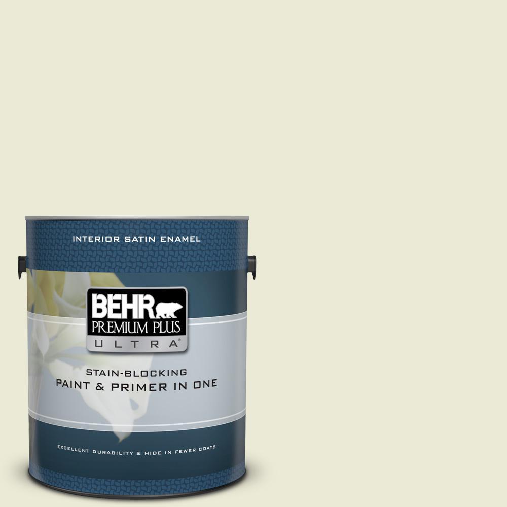 Behr Premium Plus Ultra 1 Gal Gr W3 Breeze Satin Enamel Interior
