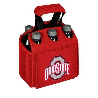 Ohio State University Buckeyes 6-Bottles Red Beverage Carrier