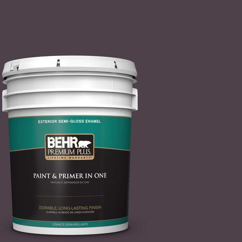 5-gal. #BXC-09 Dark Burgundy Wine Semi-Gloss Enamel Exterior Paint