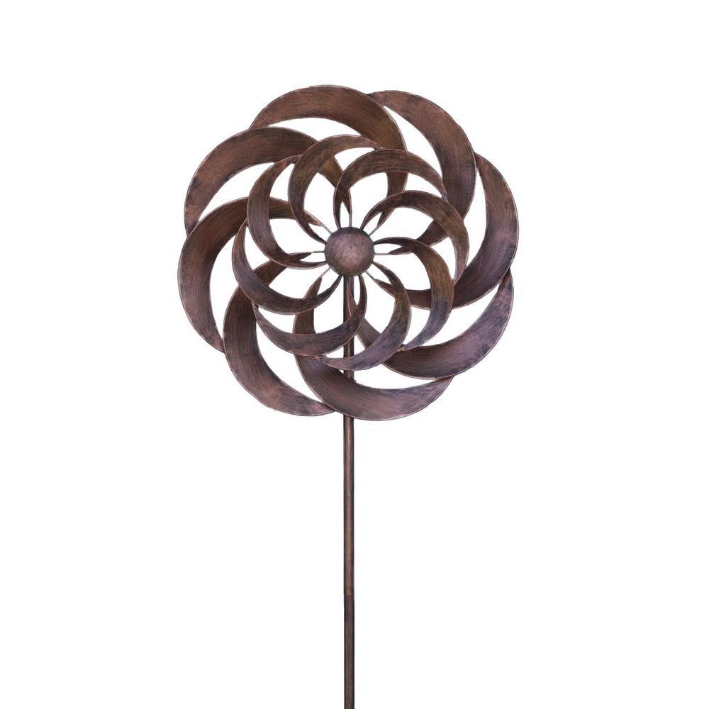 Windweaver 24 in. x 84 in. Steel Kinetic Decorative Wind Art Spinner