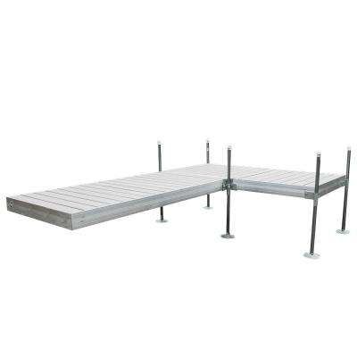 12 ft. L-Style Aluminum Frame with Decking Complete Dock Package