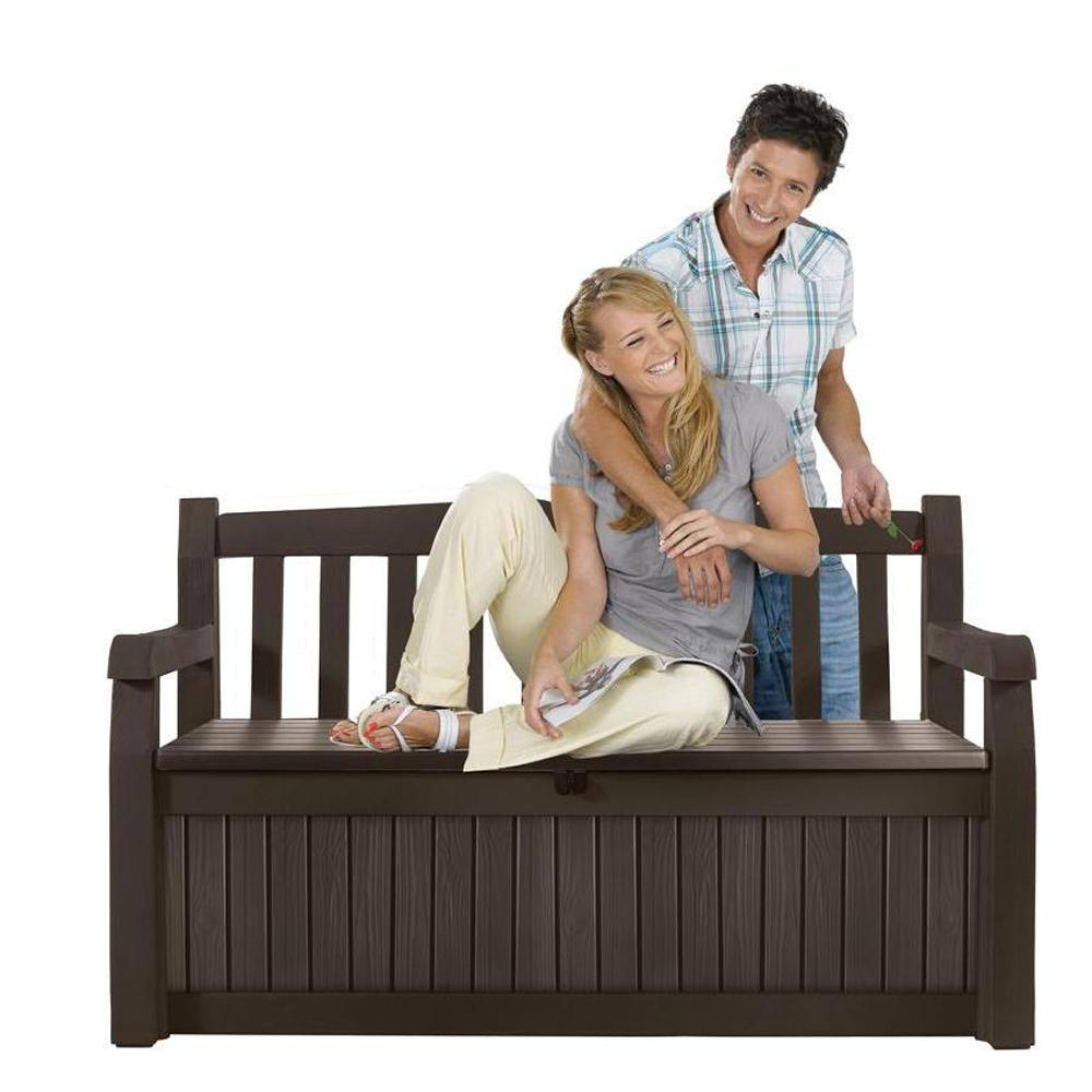 Swell Keter Eden 70 Gal Outdoor Garden Patio Deck Box Storage Bench In Brown Gmtry Best Dining Table And Chair Ideas Images Gmtryco