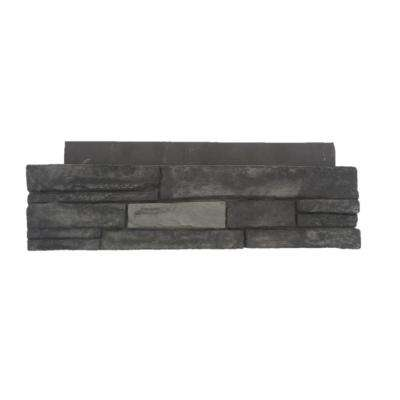 23.5 in. x 6 in. Northern Gray Stone Veneer Siding Flats