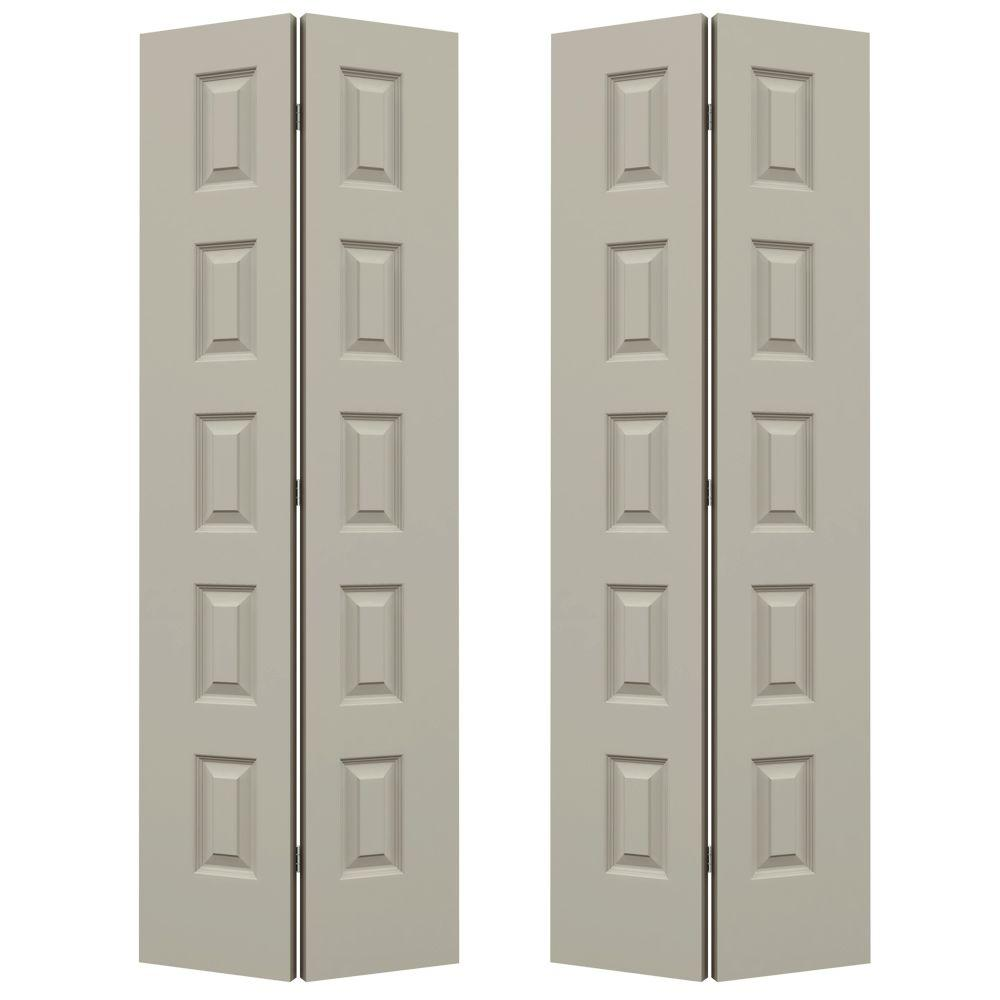 JELD WEN 72 In. X 80 In. Rockport Desert Sand Painted Smooth Molded