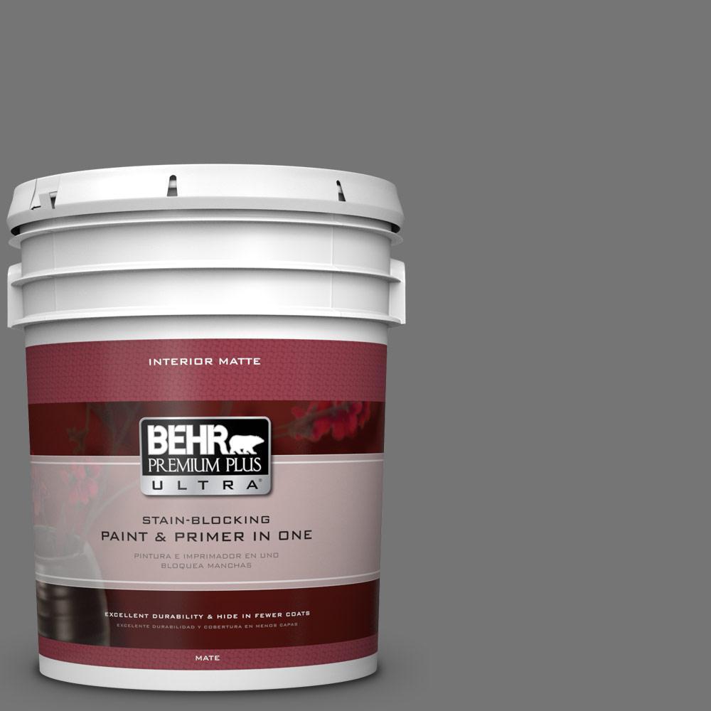 BEHR Premium Plus Ultra 5 gal. #N520-5 Iron Mountain Matte Interior Paint