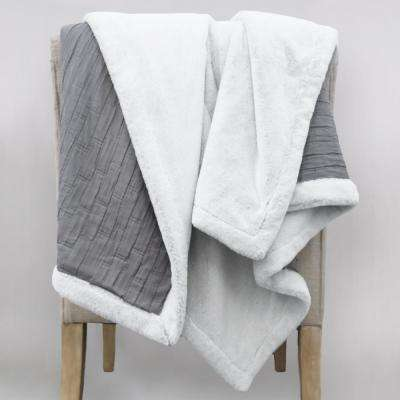 Allied Home Matelasse Reversible Gray Throw Blanket Dt001113a The Home Depot